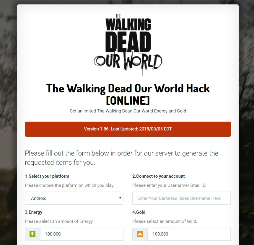 *99999 Gold* The Walking Dead Our World Hack Cheats Mod For Android & iOS |  eBooks | Games