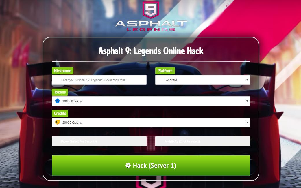 *No Survey* Asphalt 9 Legends Hack Cheats Mod For Android & iOS