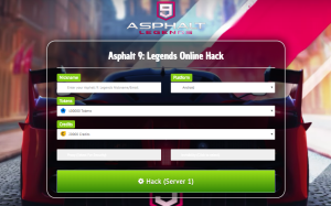 *no survey* asphalt 9 legends hack cheats mod for android & ios