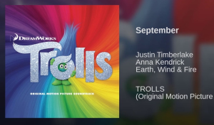 september (from trolls) justin timberlake and earth, wind and fire. custom arranged for vocals and full 5444 big band.