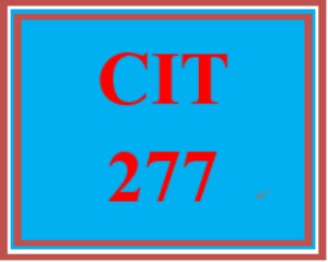 cit 277 week 3 individual: e-commerce project, part iii