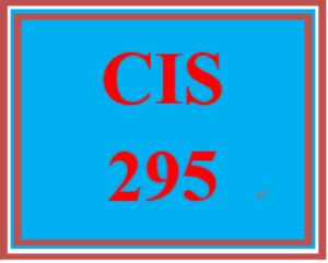 cis 295 week 1 individual: week one practice labs submission