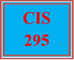cis 295 week 5 individual: week five practice labs submission