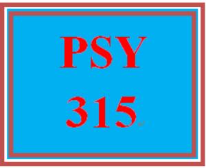 PSY 315 Week 5 Practice Worksheet | eBooks | Education