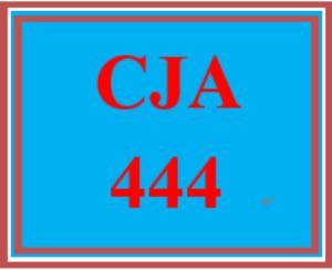 cja 444 week 1 organizational behavior paper
