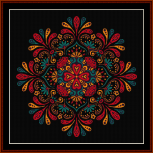 fractal 692 cross stitch pattern by cross stitch collectibles