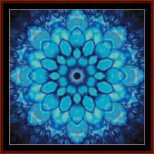 fractal 693 cross stitch pattern by cross stitch collectibles