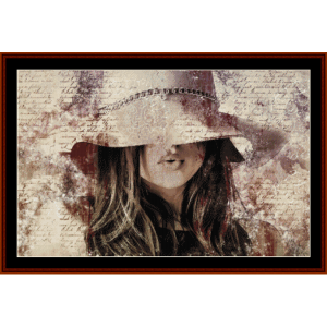 mystery woman - fantasy cross stitch pattern by cross stitch collectibles