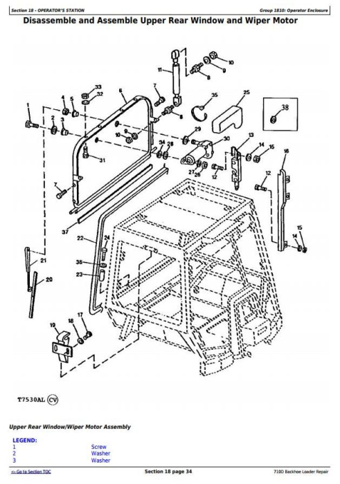 Third Additional product image for - John Deere 710D Backhoe Loader Service Repair Technical Manual (tm1538)