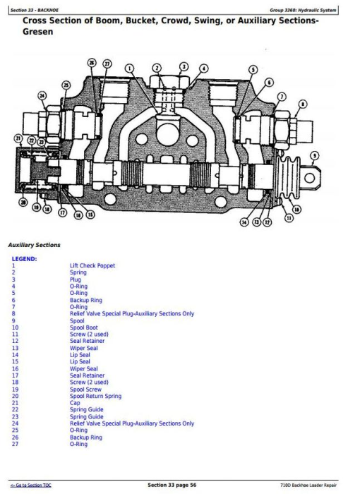 Fourth Additional product image for - John Deere 710D Backhoe Loader Service Repair Technical Manual (tm1538)