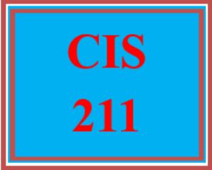 cis 211 entire course
