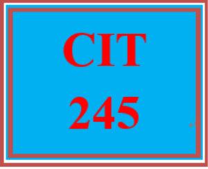 cit 245 week 4 individual: cisco ios troubleshooting tools