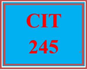 cit 245 entire course