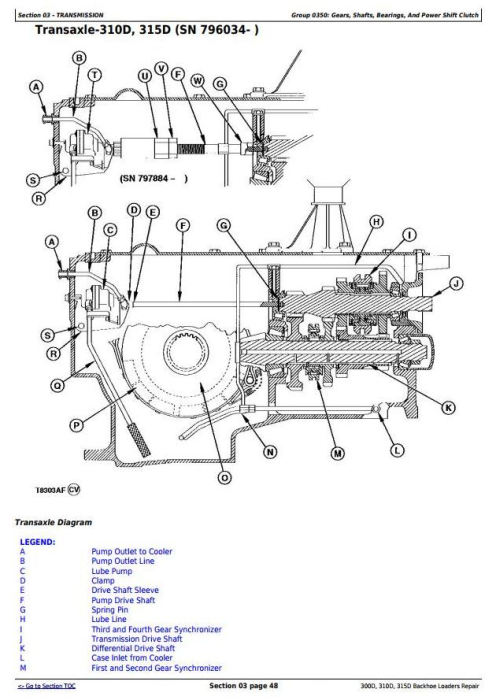 Third Additional product image for - John Deere 300D,310D Backhoe Loaders 315D Side Shift Loader Service Repair Technical Manual (tm1497)