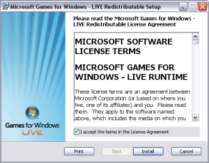 microsoft games for windows - live 3.5.50.0