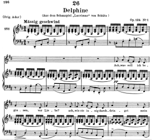 delphine d.857-2, low voice in d major, f. schubert. c.f. peters (friedl.) a4