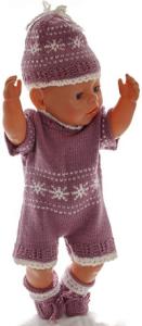 dollknittingpatterns 0192d edd & edith - rock, pulli, unterhose, anzug, mütze und socken-(deutsch)