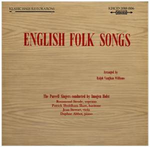 english folk songs arranged by ralph vaughan williams - the purcell singers