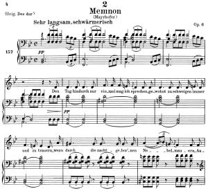 memnon, d.541, low voice in b-flat major, f. schubert. c.f. peters (friedl.) a4