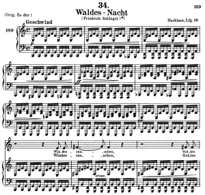 waldes nacht, d.708, low voice in c major, f. schubert. c.f. peters (friedl.) a4