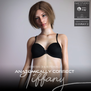 anatomically correct: tiffany for genesis 3 and genesis 8 female