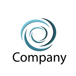 blue swirly company logo
