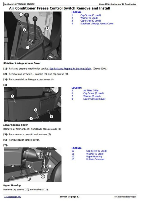 Third Additional product image for - John Deere 410K (T3/S3A) Backhoe Loader (SN from 219607) Service Repair Technical Manual (TM12500)