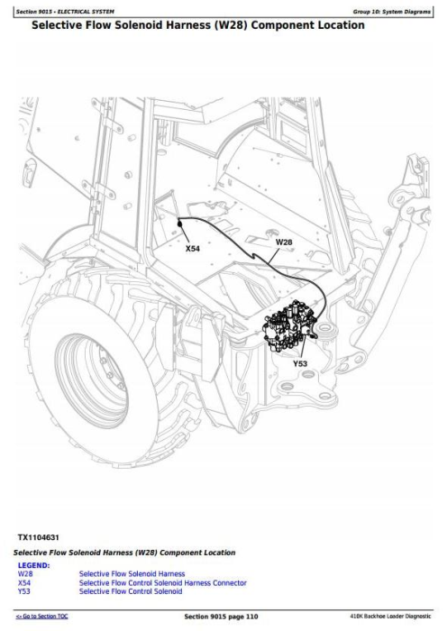 Second Additional product image for - John Deere 410K (T3/S3A) Backhoe Loader (SN from 219607), Diagnostic & Test Service Manual (TM12499)