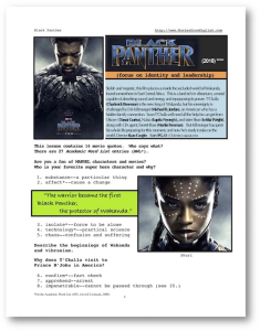 black panther, whole-movie english (esl) lesson