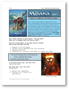MOANA, Whole-Movie English (ESL) Lesson | eBooks | Education