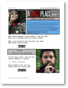 a quiet place, whole-movie english (esl) lesson
