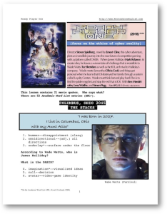 ready player one, whole-movie english (esl) lesson