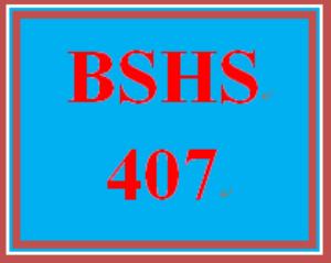 bshs 407 week 2 agency showcase