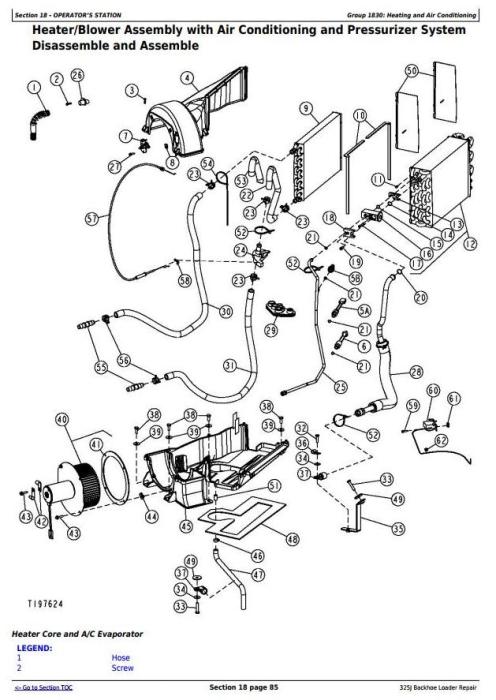 John Deere 325J Side Shift Loader Service Repair Technical