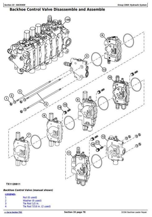 John Deere 315SK (T3/S3A) Backhoe Loader (SN: D229820