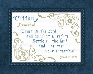 Name Blessings - Tiffany 3 | Crafting | Cross-Stitch | Other