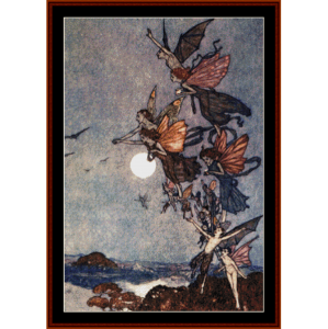nocturnal fairies - fantasy cross stitch pattern by cross stitch collectibles