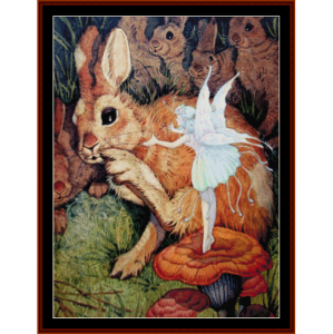 the bunny whisperer - fantasy cross stitch pattern by cross stitch collectibles
