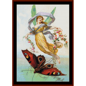 butterfly fairy ii - fantasy cross stitch pattern by cross stitch collectibles