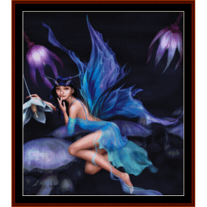 lotus fairy - fantasy cross stitch pattern by cross stitch collectibles