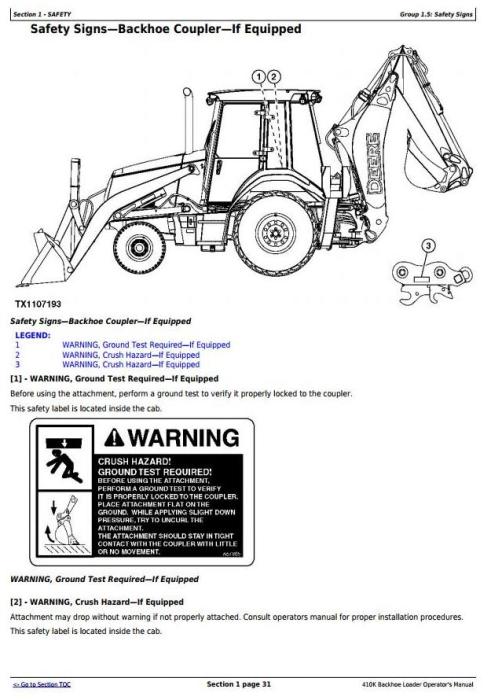 John Deere 410K (iT4/S3B) Backhoe Loader (PIN: 1T0410KX