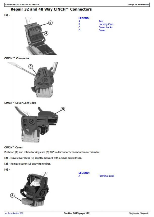 Third Additional product image for - John Deere 304J Loader (SN. from 23372) Diagnostic, Operation and Test Service Manual (TM11216)