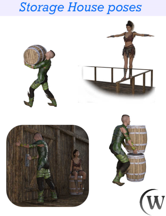 First Additional product image for - STORAGE HOUSE Poses for Genesis 8 Female and Genesis 8 Male