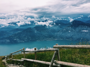 beautiful monte baldo view, italy