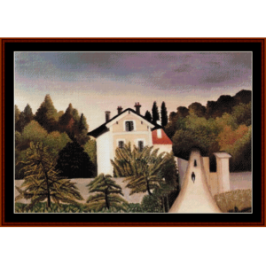 the outskirts of paris - rousseau cross stitch pattern by cross stitch collectibles