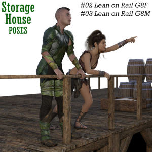 storage house poses - freebies 02 and 03