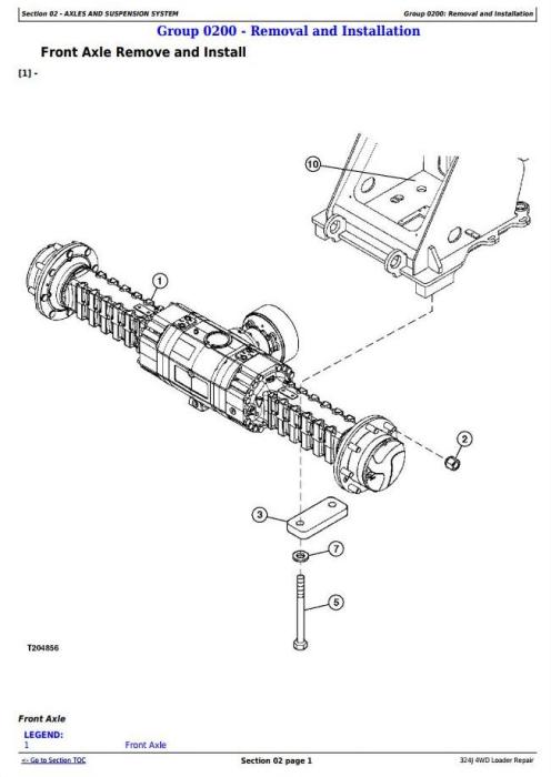 John Deere 324J 4WD Loader Service Repair Technical Manual