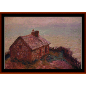 customs house at varengaville - monet cross stitch pattern by cross stitch collectibles