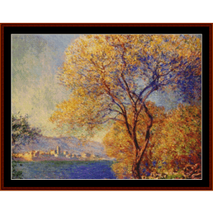 antibes from the dalis gardens - monet cross stitch pattern by cross stitch collectibles