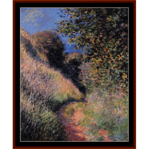 path at pourville - monet cross stitch pattern by cross stitch collectibles
